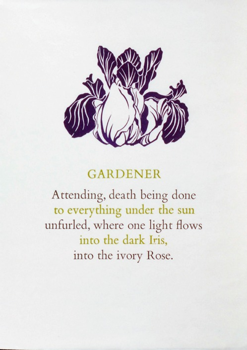 Broadsheet for Gardener